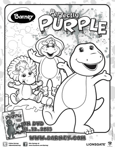 Barney Colouring And Drawing