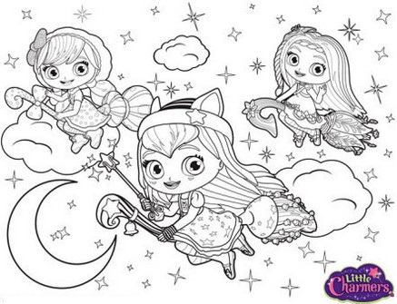 Little Charmers Nick Jr Coloring Pages For Kids