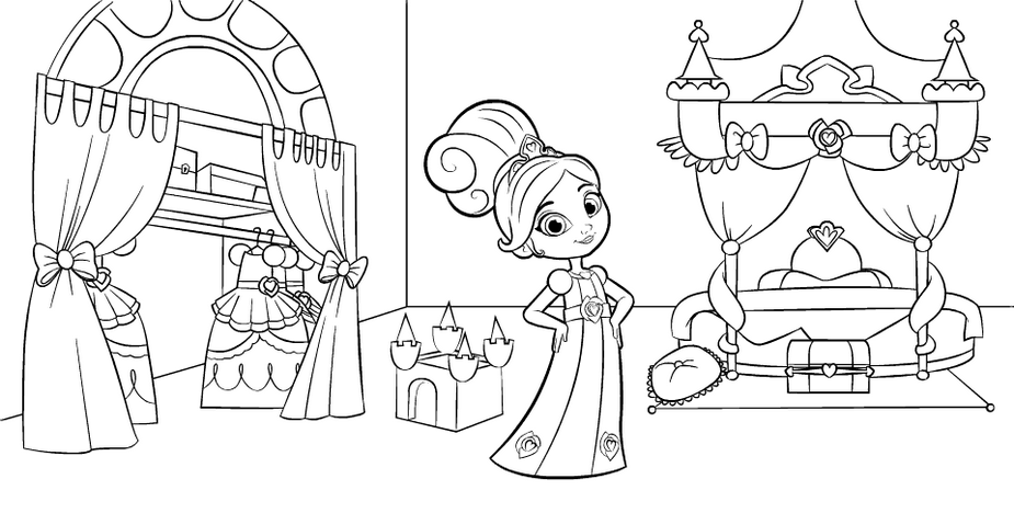 Nella The Princess Knight In Bedroom Coloring Pages - Coloring Pages