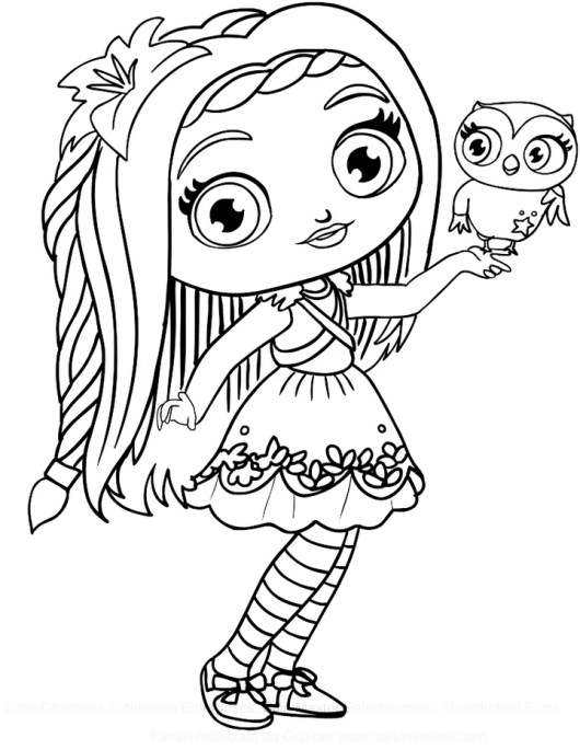 Posie Little Charmers Coloring Pages To Print