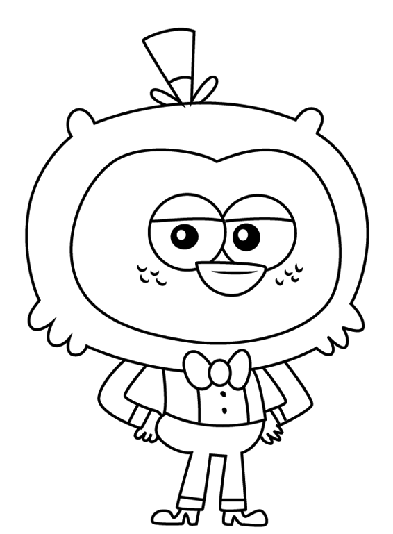 T Midi From Breadwinners Coloring Page