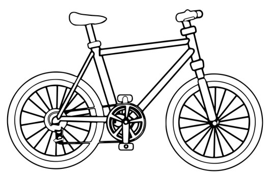 Bicycle Coloring Pages Bike Coloring Sheet Printable