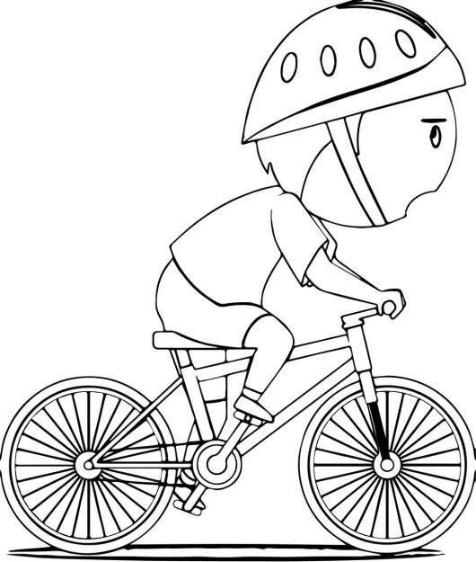 kids riding bikes coloring pages | Bike Coloring Pages to Encourage Kids Learn to Ride ...