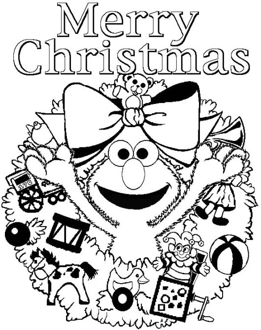 Christmas Sesame Street Coloring Pages
