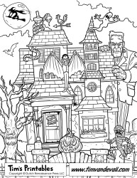 haunted coloring printable pages bravery challenge