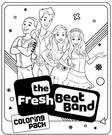 Fresh Beat Band Of Spies Coloring Pages