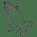 Hand Praying Coloring Page
