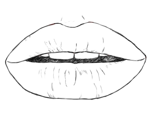 Lips Drawing