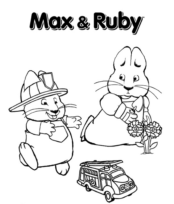 Max And Ruby Nick Jr Coloring Pages