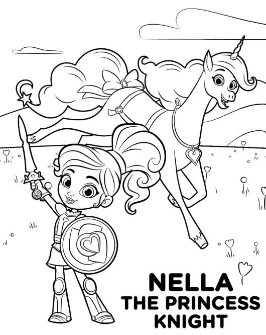 nella the princess knight coloring pages printable - Knight Coloring Pages