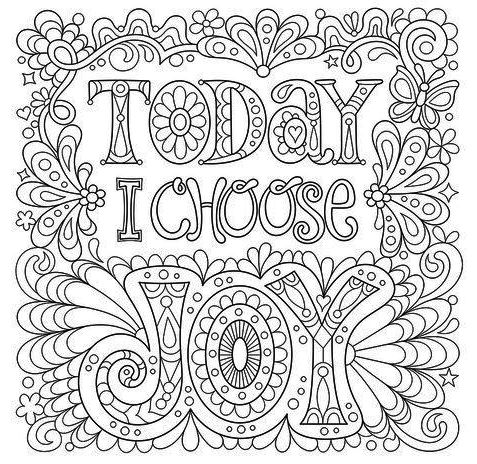Printable Quotes Coloring Page