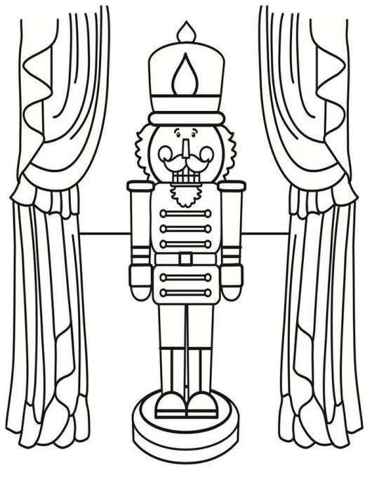 Printable Nutcracker Coloring Page For Kids
