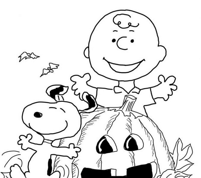 Charlie Brown Halloween Pages Coloring Pages
