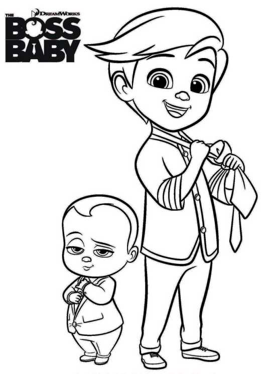 The Boss Baby Coloring Pages To Print