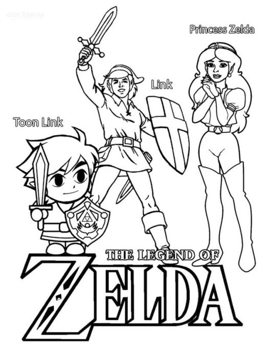 The legend of zelda coloring pages coloring pages for Midna coloring pages