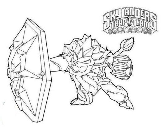 Wildfire From Skylanders Trap Team Coloring Pages Printable