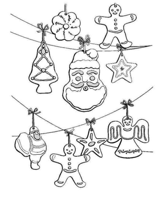 Christmas Ornaments Coloring Page Everyone Will Enjoy
