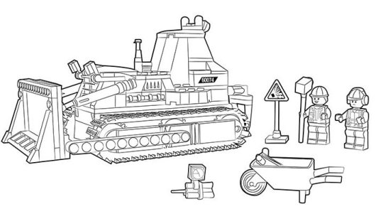 Excavator Bulldozer Coloring Pages