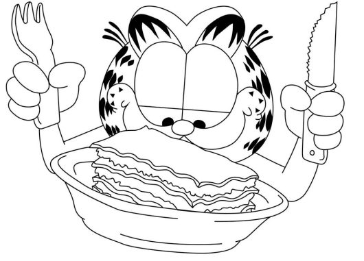 Garfield Comic Strip Coloring Page