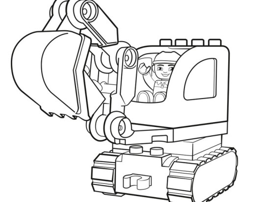 Lego Excavator Coloring Pages