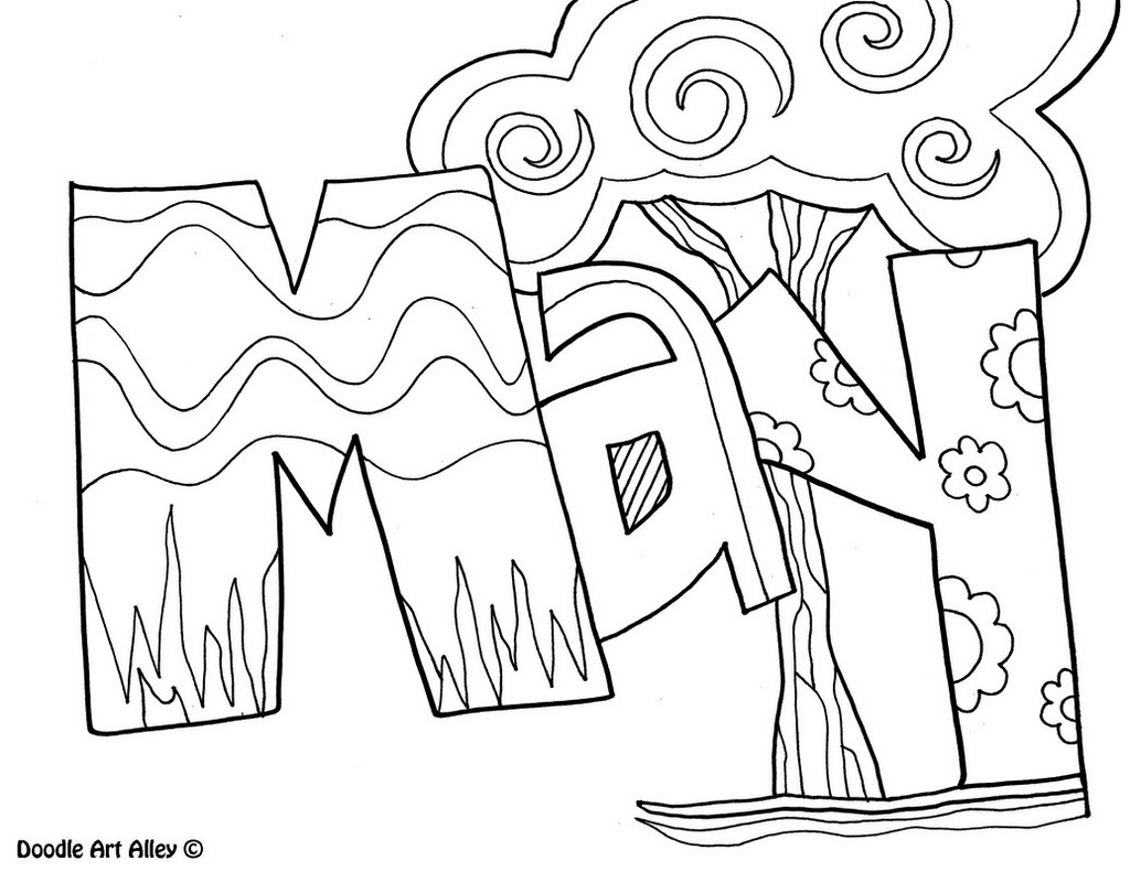 May months of the year coloring sheets