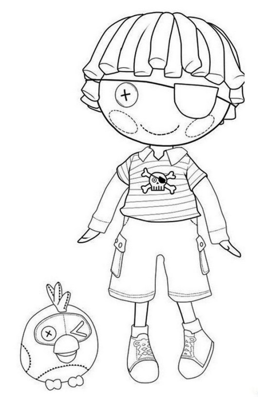 Patch Treasurechest Lalaloopsy Coloring pages