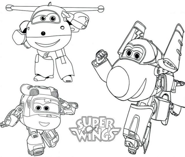 Super Wings Transforming Coloring Pages Coloring Pages