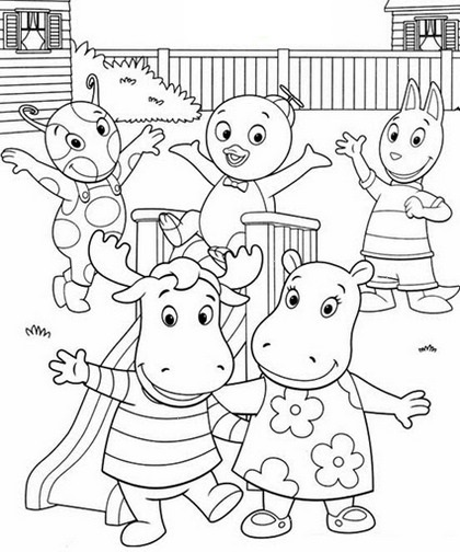 The Backyardigans Coloring Pages Printable