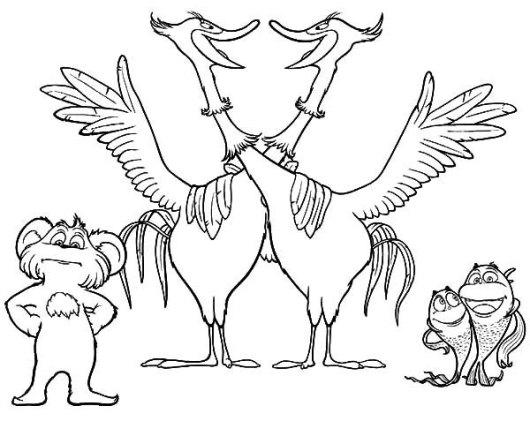 The Lorax Movie And Chidren Book Coloring Sheet