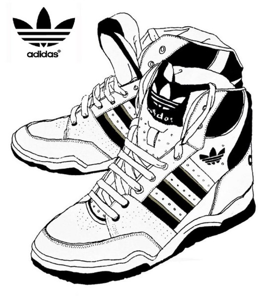 Adidas Coloring Page Shoes