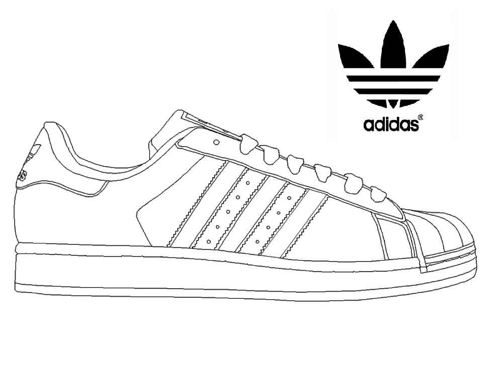 Adidas Superstar Sneakers Coloring Page