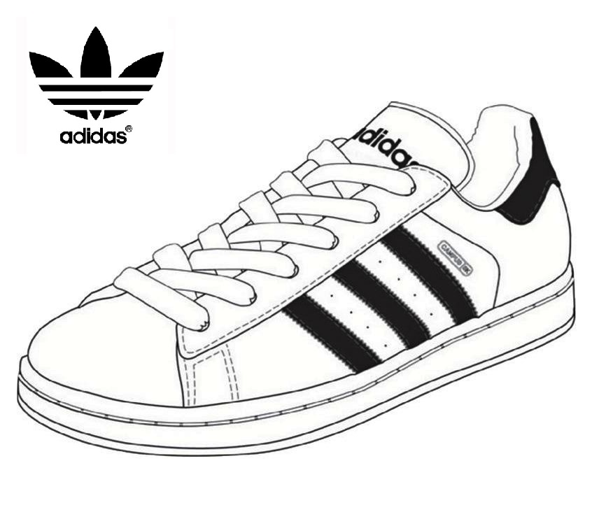 Adidas Shoes Pages Coloring Pages