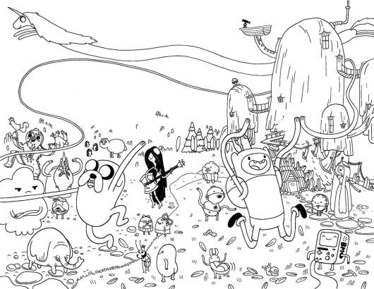Adventure Time Characters Coloring Pages
