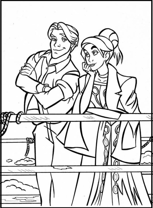 Anastasia Adventure Coloring Page