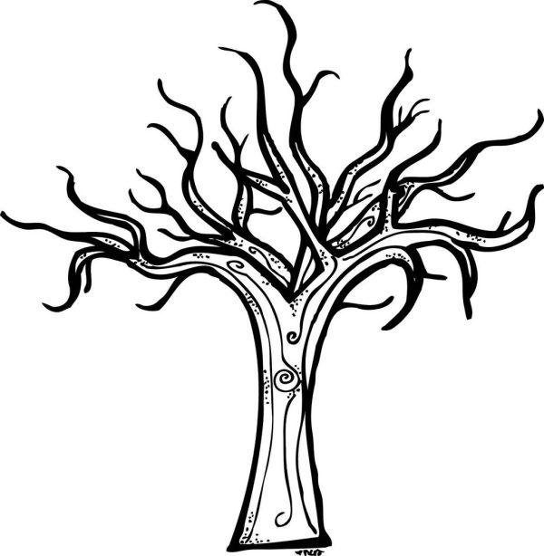 bare tree coloring page # 13