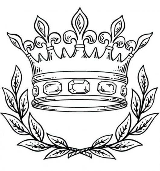 Useful Clip Art Of Crown Coloring Pages Proper Intended For Kids