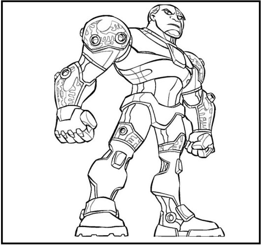 Cyborg coloring pages coloring pages - Coloriage dc comics ...
