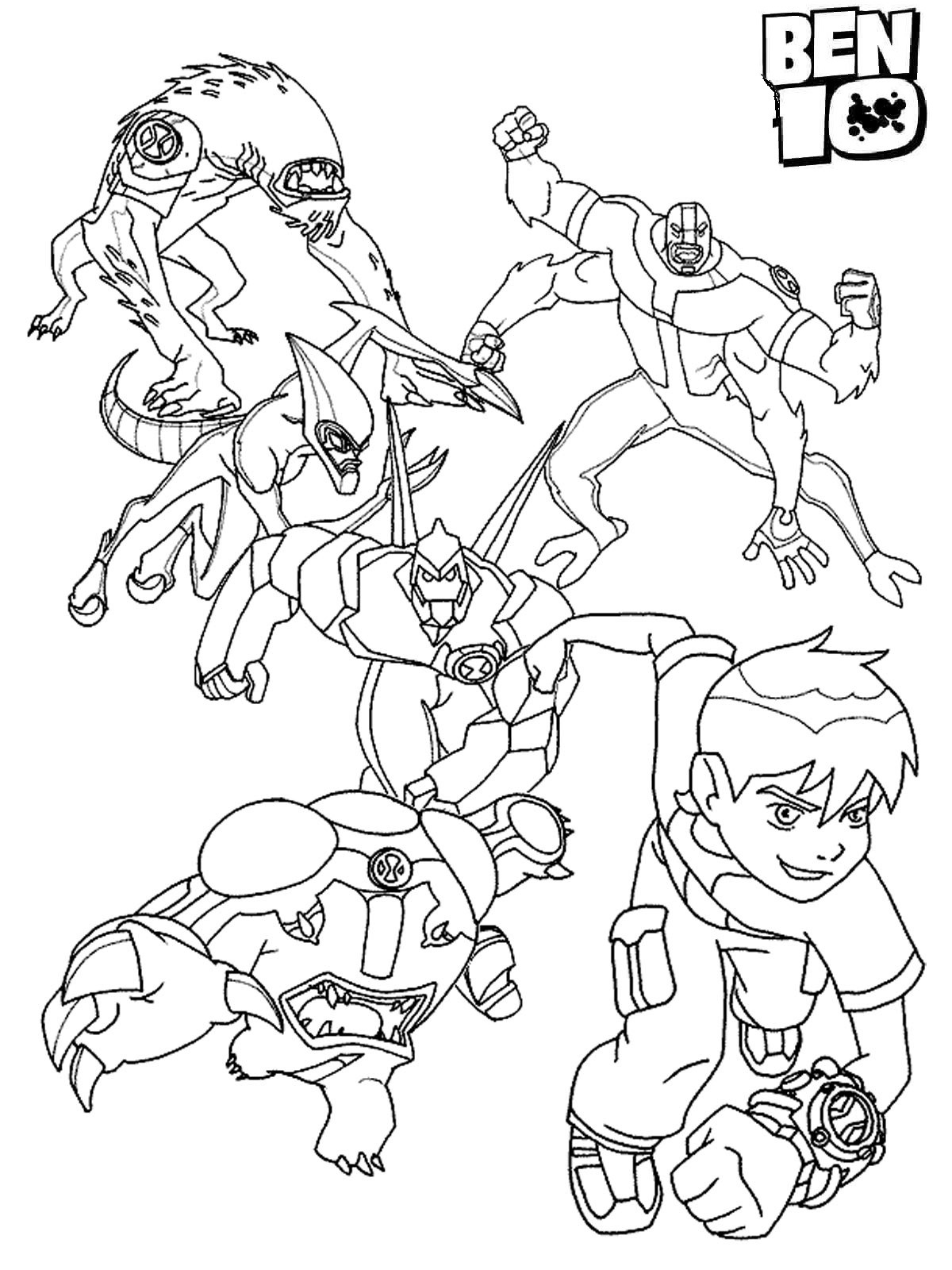 Free Ben 10 Coloring Pages