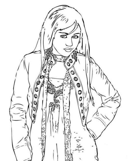 Hannah Montana Coloring And Drawing Activity
