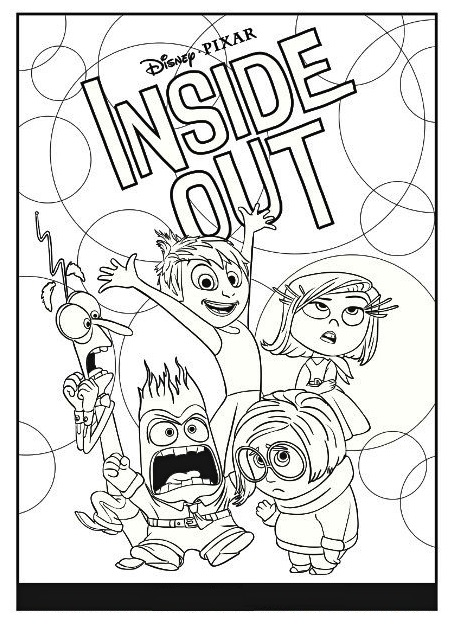 inside out pixar coloring sheet