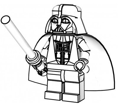 Lego Star Wars Darth Vader Coloring And Activity Page For Kids