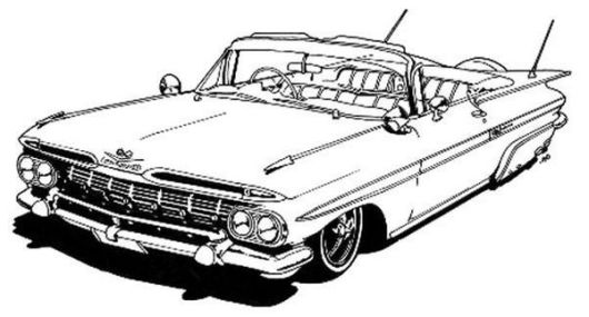 Lowrider Car Coloring Book Printable