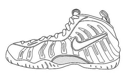 Nike Air Humara Coloring Page Shoes