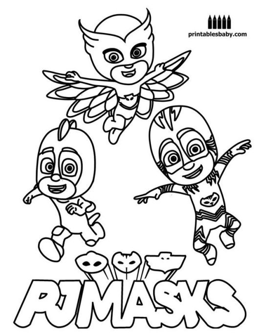 Pj Mask Disney Coloring Pages