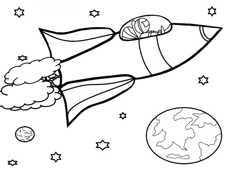 Rocket Coloring Pages Spacecraft Gallery For Kids