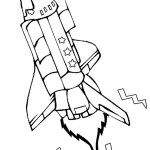 Rocket Printable Coloring Page