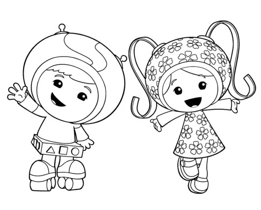 Team Umizoomi Nick Jr Coloring Pages