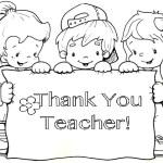 Thank You Teacher Coloring Book