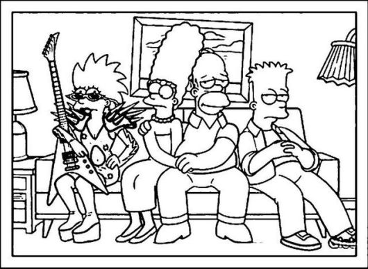 the simpsons coloring and activity page