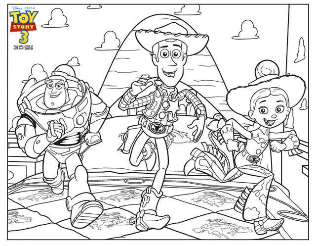 toy story 3 Coloring Page disney pixar
